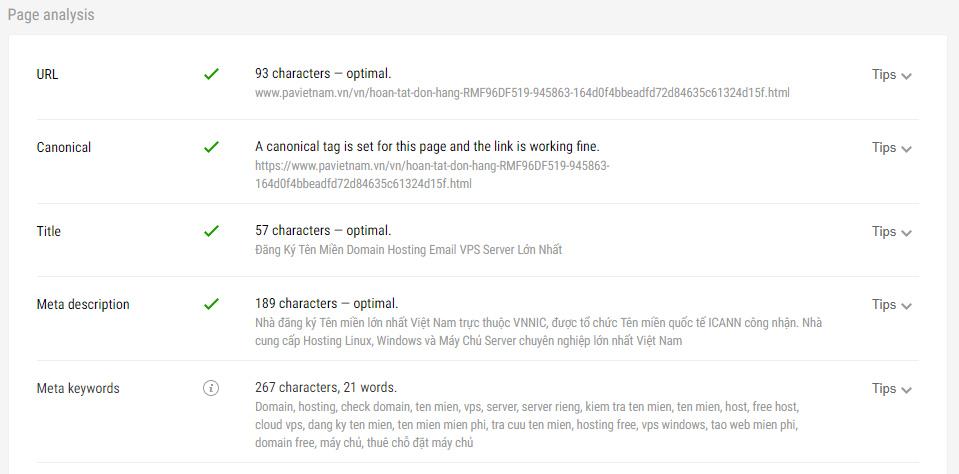 Một trong những điểm chuẩn SEO 1 website nên tích hợp đầy đủ