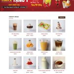 Mẫu website Snow Island Coffee